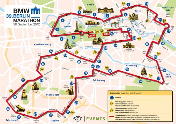 U inn Berlin Hostel Friedrichshian Berlin Marathon Map