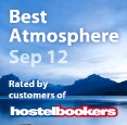 Hostelbookers Award for best Atmosphere in September 2012